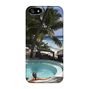 Hot Snap-on Hot Tub Jacuzzi On Beach Front Hard Cover Case/ Protective Case For Iphone 5/5s