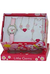 Ravel Little Gems Kids Flower Watch & Jewellery Gift Set For Girls R2214