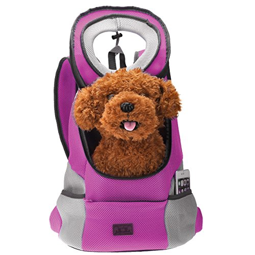 Yerwal latest Style Comfortable Dog Cat Pet Carrier Backpack Travel Carrier Bag Front for Small dogs Carrier Bike Hiking Outdoor k (L, Pink)