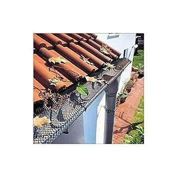 Laubschutz Dachrinne dachrinnenschutz laubschutz für dachrinnen 6 m amazon de garten