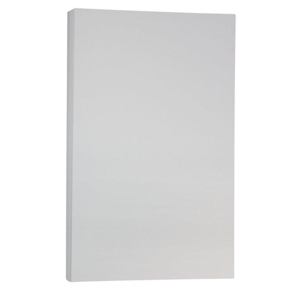 JAM PAPER Legal Vellum Bristol 67lb Cardstock - 8.5 x 14 Coverstock - Gray - 50 Sheets/Pack