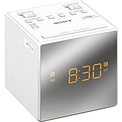 Sony Compact AM/FM Dual Alarm Clock Radio with Large Easy to Read Backlit LCD Display