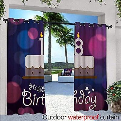 Amazon.com: Cortinas para patio de 16 cumpleaños, con vela ...