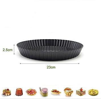 Fut antiadherente extraíble Base desmontable Quiche Pizza Pan, Molde Redondo para tarta pastel Pan,