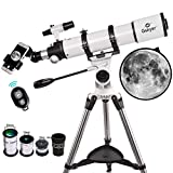 Telescope, Gskyer 90mm Aperture 600mm AZ Astronomical Refractor Telescope - Professional Telescope for Astronomers with Smart-Phone Adapter and Bluetooth Camera Remote