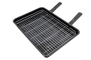 Spares4appliances - Bandeja universal con parrilla para horno (42 x 32 cm, con 2 mangos)