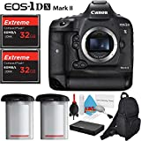 Canon EOS 1Ds Mark II DSLR Camera with Two 32GB Extreme CF Compact Flash Memory Cards and Extra Battery International Model Kit