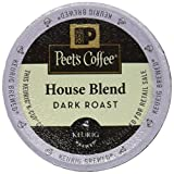 Peet's Coffee K-Cup Pack House Blend, 10 Count (Pack of 6)