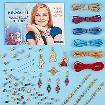 Make It Real – Disney Frozen 2 Elements Jewelry Set. Disney Inspired DIY Charm Bracelet Making Kit for Girls. Design and Create Girls Bracelets with Frozen 2 Charms, Beads, Faux Suede and More: Toys & Games