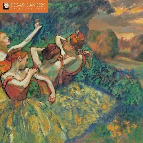 Degas' Dancers 2018 12 x 12 Inch Monthly Square Wall Calendar by Flame Tree, French Impressionism Impressionist Art Artist Painter