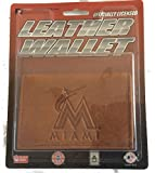 Rico Industries Official Leather Wallet TriFold Embossed Miami Marlins