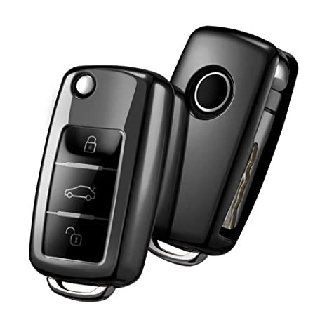 OATSBASF Funda para Llave DE para Coche VW VW Polo Golf 6 Skoda Seat: Amazon.es: Electrónica