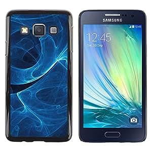 YiPhone /// Prima de resorte delgada de la cubierta del caso de Shell Armor - Remolino de humo azul - Samsung Galaxy A3