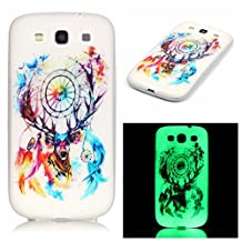 S3 Case, Galaxy S3 Case, SATURCASE Luminous Fluorescent Glow Ultra Thin Soft TPU Gel Silicone Back Case Cover for Samsung Galaxy S3 SIII I9300 (Color-15)