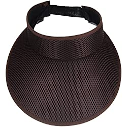 Woopoo Sun Visor Hat Women Cap Beach Golf Brim Tennis Wide Clip Uv Large Protection Ladies Adjustable Sports Plain Cotton (Coffee)