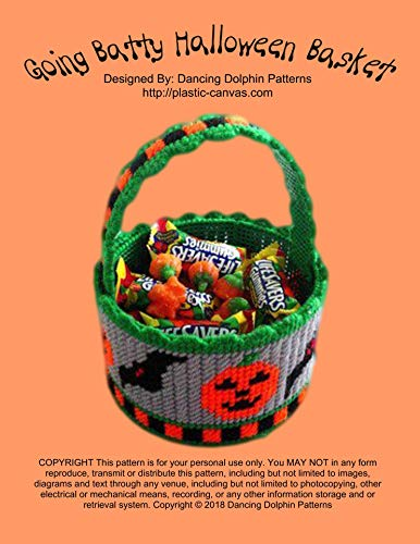 Going Batty Halloween Basket: Plastic Canvas