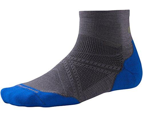 Price comparison product image Smartwool PhD Run Light Elite Mini Socks (Graphite/Bright Blue) Large