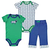 Yoga Sprout Clothing Set, 2 Bodysuits and Pant, Boy Dog, 12-18 Months