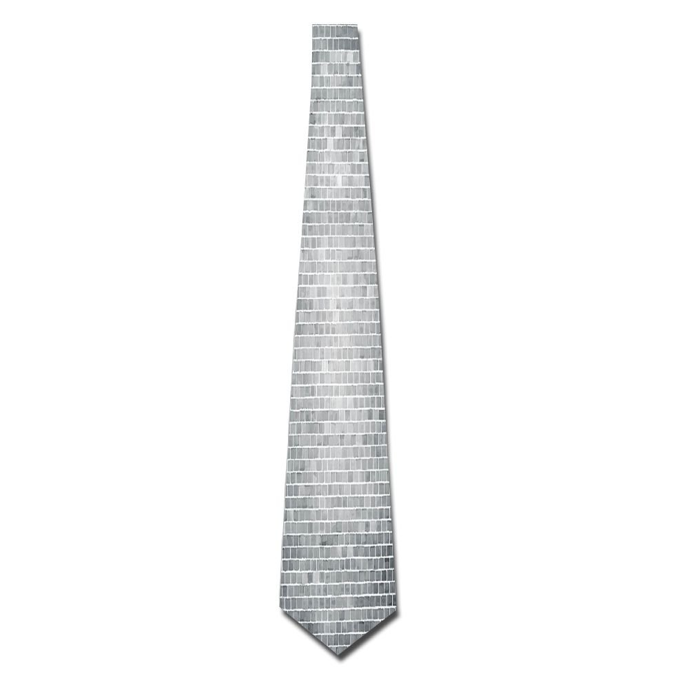 WuLion Grunge Brick Wall Featured Urban Life Construction Architecture Artisan Photo Print Men's Classic Silk Wide Tie Necktie (8 CM)