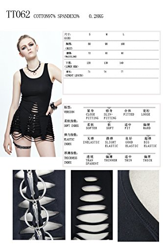 Fit Gothic Ragazze Sport Slim Canotte All'aperto Danza Le Devil Donne Top Maglietta Fashion Estate Sexy Veste novità Steampunk Sportivo per Signora Rq5ZZ4wxI