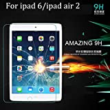 iPad Air 2 /ipad 6 Screen Protector (2015/2017) Cavor Thick Premium Tempered Glass Screen Protector 2.5D 0.3mm 9H Hardness [High Definition] for Apple iPad Air 2 /ipad 6 (9.7)