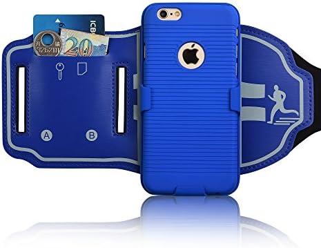 Cinta de correr para iPhone 6S, 180 ° Rotación caso, cara abierta ...