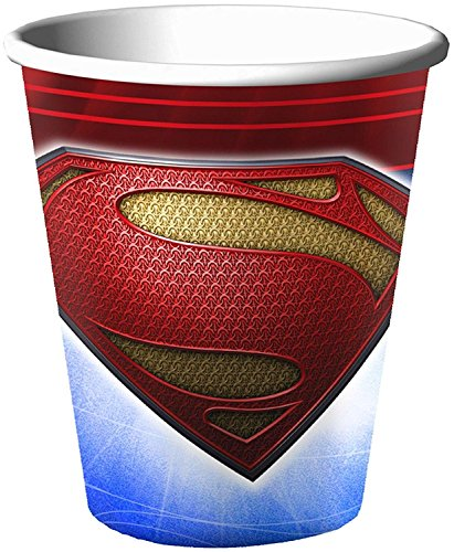 Superman Man of Steel 9oz Paper Cups (8ct)