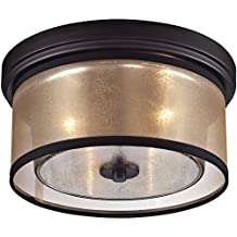 Elk Lighting 57025/2 Diffusion Collection 2 Light Flush Mount, Oil Rubbed Bronze