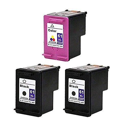 RIGHTINK 3 Pack 61XL (Black Tri-color) Remanufactured Ink...