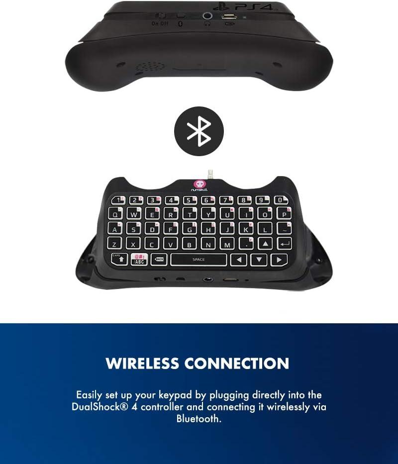 PS4 controlador de teclado - Teclado Bluetooth PS4, adaptador ...