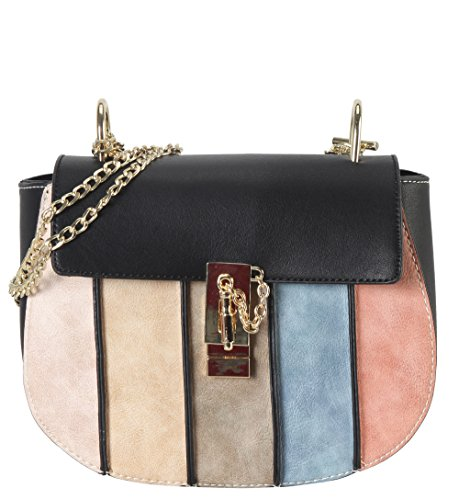 diophy-vertical-stripes-fashion-crossbody-bag-ps-3816-black