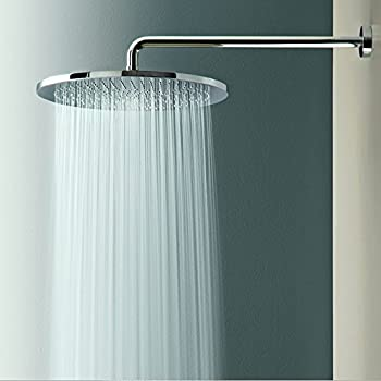 FabricMCC Rainfall Shower Head High Pressure 9 2  Round for Bathroom Adjustable 6 Rain Flow Fixed