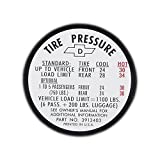 Eckler's Premier Quality Products 40-141958 Full Size Chevy Tire Pressure Decal,