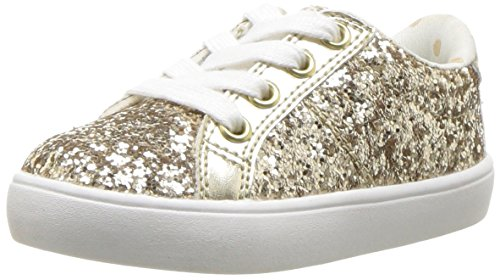 carter's Girls' Emilia Casual Sneaker, Gold, 9 M US Toddler (Lace Toddler Shoe)