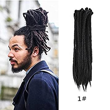Amazoncom Haiquan Black Color Handmade Dreadlocks Extensions