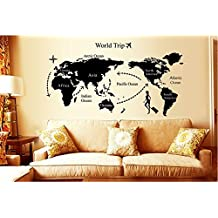 Weksi®AY9134 world map wall decal wall sticker Vinyl Decals