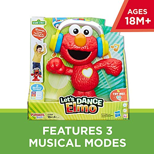 Sesame Street Let's Dance Elmo: 12-inch Elmo Toy that Sings and Dances, With 3 Musical Modes, Sesame Street Toy for Kids Ages 18 Months and Up JungleDealsBlog.com
