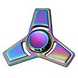 Suiez Anti-Anxiety Rainbow Color Edc Clover Hand Spinner Interscrew Finger Decompression Puzzle Toys (H08)