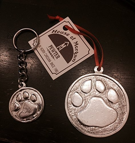 Pewter Animal Pet Paw Cougar Tiger Wild Cat Dog Ornament or (Breed Ornament)