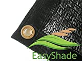 EasyShade 50% Black Shade Cloth Taped Edge with Grommets UV 12ft x 10ft