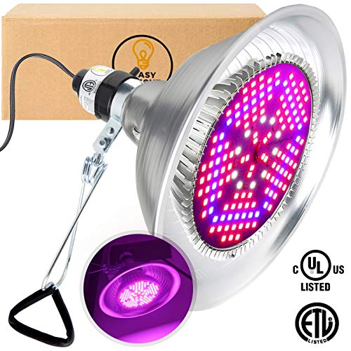 100W LED Grow Light Bulb - Clamp Bundle | Full Spectrum Lamp for Indoor Plants, Garden, Flowers, Vegetables, Greenhouse & Hydroponic Growing | E27 Base with 150 LEDs (AC85-265V) by Easy Bright
