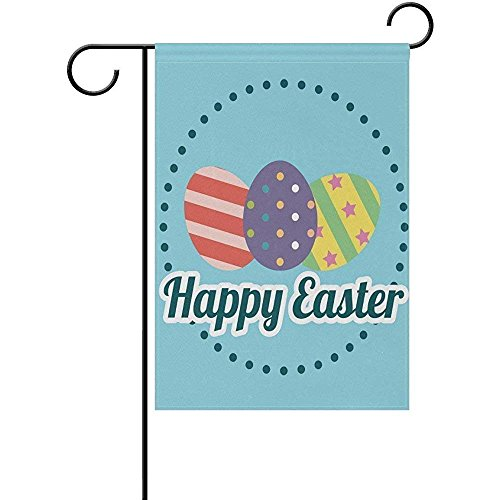 Happy Easter Garden Flag Banner 12x18 In Polyester for Home