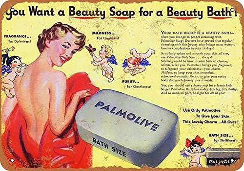 YDFOR Jabon de Baño Palmolive Decoración de la Pared del Vintage ...