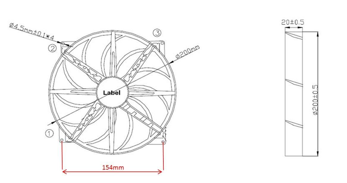 BitFenix Spectre Pro 230mm Case Fan BFF-SPRO-23030KK-RP Black