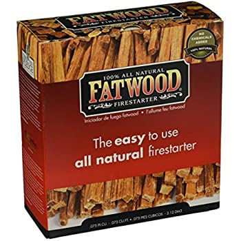 this item fatwood firestarter cubic feet fatwood for fireplace in color box - Fatwood