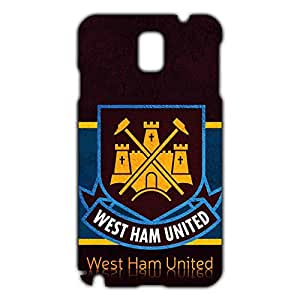 West Ham United FC Logo Phone Case for Samsung Galaxy Note 3 3D Hard Black Plastic Cover