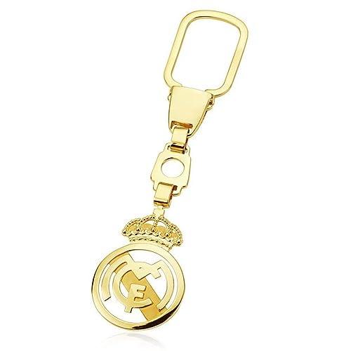 Llavero escudo Real Madrid oro de ley 18k calado [AA0635 ...