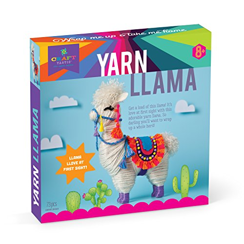 Craft-tastic – Yarn Llama Kit – Craft Kit Makes 1 Yarn-Wrapped -