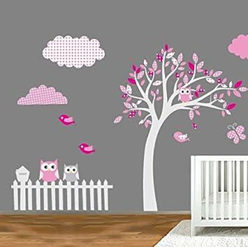 Sticker Deco Motif Arbre De Hibou Pour Chambre D Enfants 130 X 180 Cm
