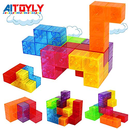 Magnetic Building Blocks, Brainteaser Puzzles Magnetic Tiles, 7pcs/ Set Magic